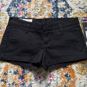 Hurley Lowrider cotton shorts in black NEW